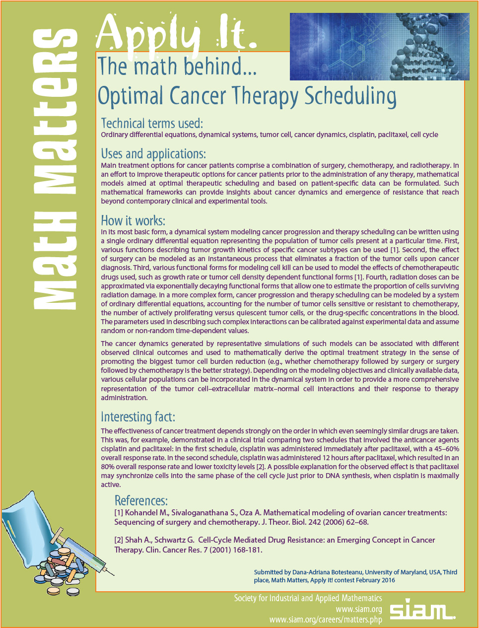 math behind Optimal Cancer Therapy Scheduling
