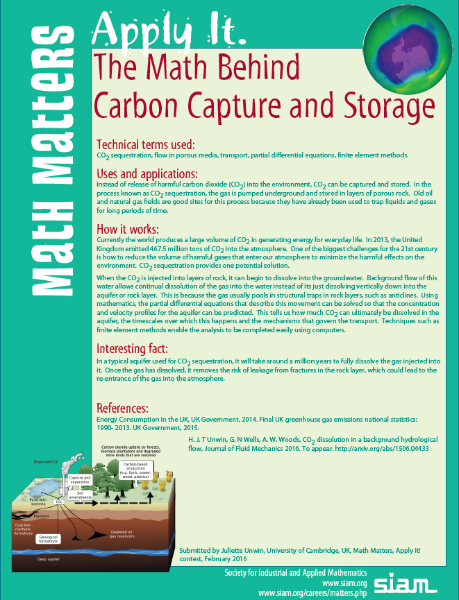 math behind Carbon Capture and Storage
