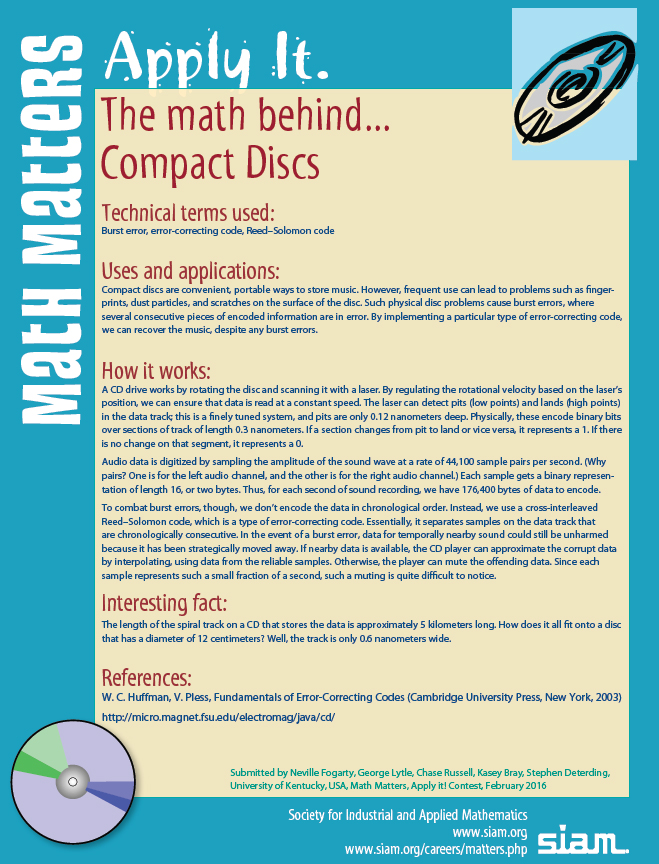 SIAM: Math Matters, Apply It!