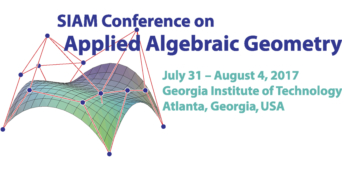 SIAM: SIAM Conference on Applied Algebraic Geometry (AG17)