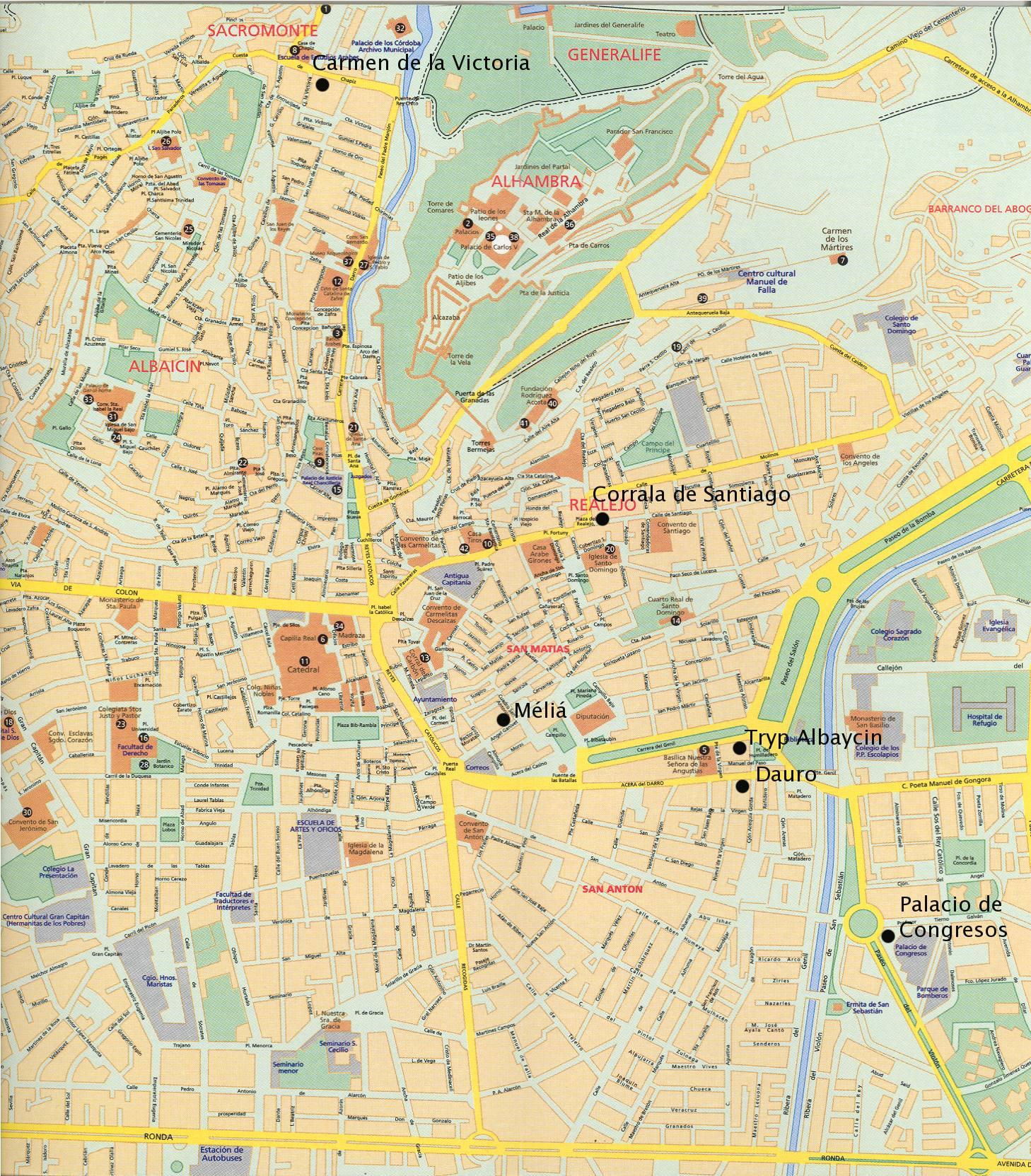 SIAM: Hotel Information Granada Map